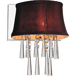 CWI Lighting 1 Light Wall Sconce With Dark Purple Shade