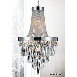 13 Light Chandelier With Clear Crystals