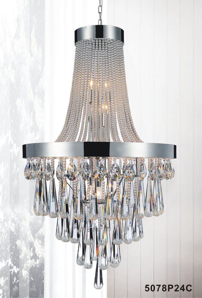 CWI Lighting 13 Light Chandelier With Clear Crystals
