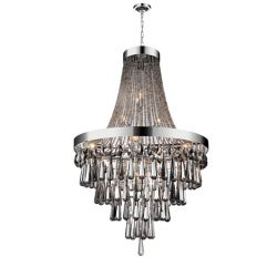 CWI Lighting 13 Light Chandelier With Smoke Crystals