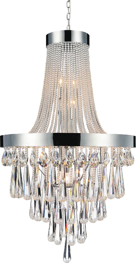 CWI Lighting 17-Light Chandelier with Clear Crystals