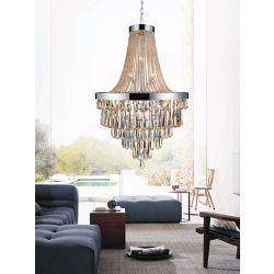 CWI Lighting 17 Light Chandelier With Cognac Crystals