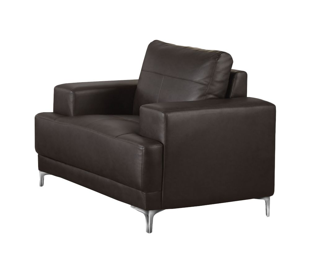 Chair - Brown Bonded Leather