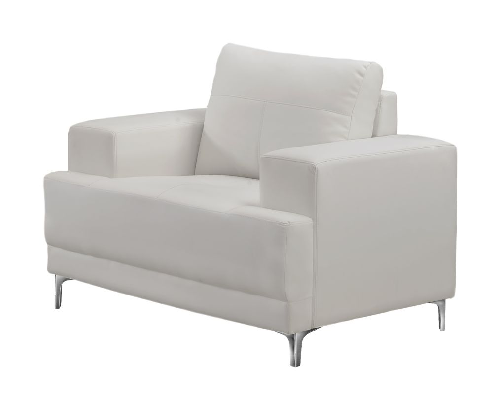 Chair - Ivory Bonded Leather