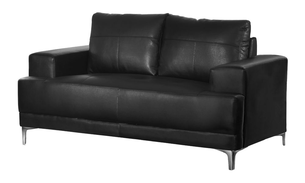 Monarch Specialties Love Seat - BlackBonded Leather