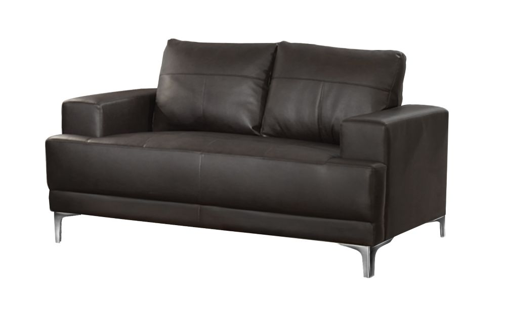 Love Seat - Brown Bonded Leather