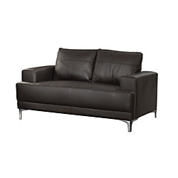 Monarch Specialties Love Seat - Brown Bonded Leather