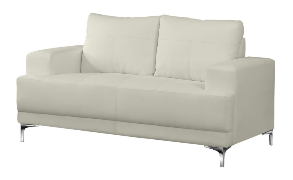 Sofa - Ivory Bonded Leather