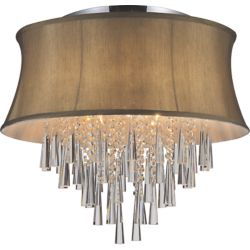 CWI Lighting 8 Light Flush Mount With Brown Shade