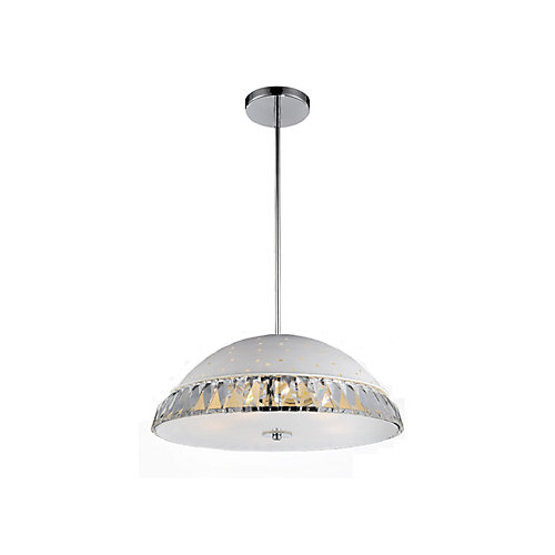 5 Light Pendant With White Finish