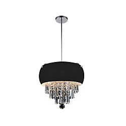 CWI Lighting 4 Light Mini Pendant With Black Shade