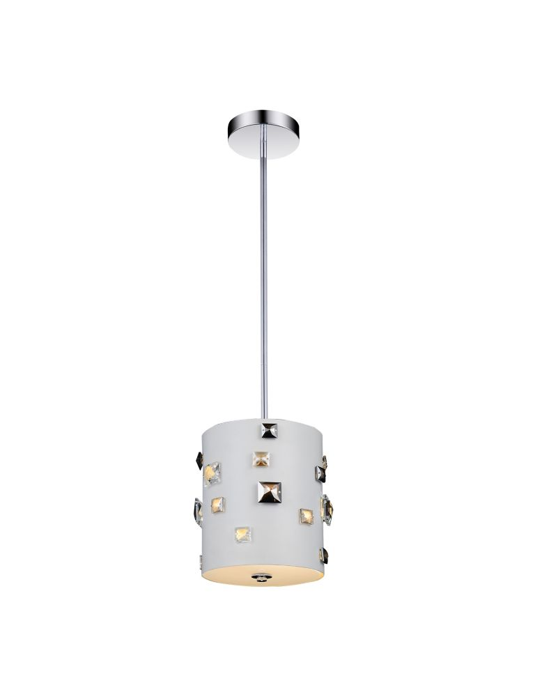 Mini suspension à 2 lampes au fini blanc