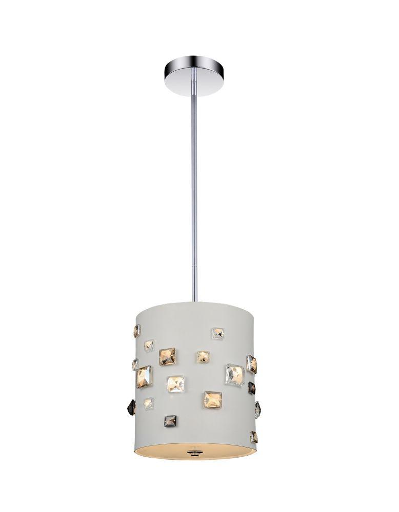 Mini suspension à 3 lampes au fini blanc