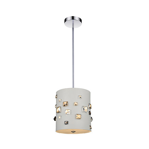 3 Light Mini Pendant With White Finish