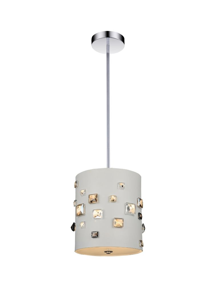 CWI Lighting 3 Light Mini Pendant With White Finish