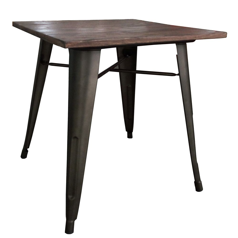 !nspire Modus Elm and Gunmetal Dining Table