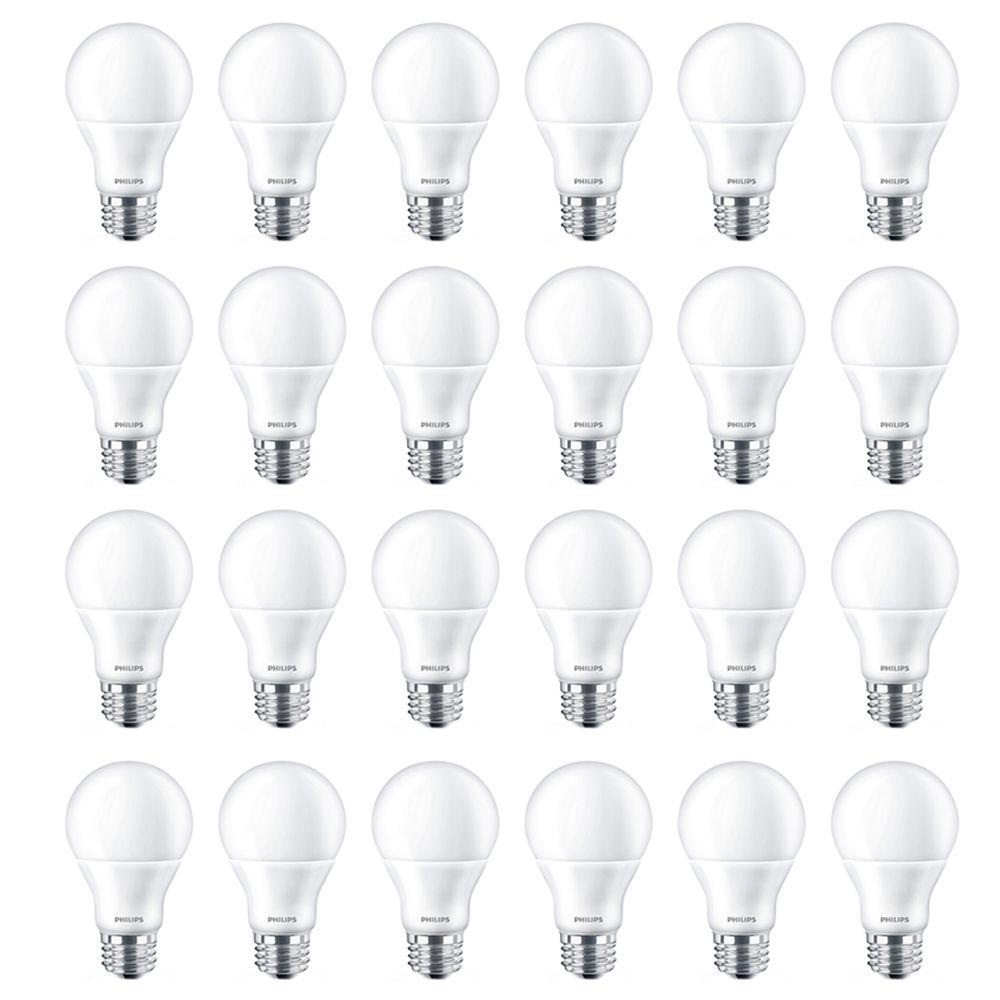 Lampe de menage décoratifs A19 DEL 60 W  À culot moyen.  - Cas de 24 Ampoules