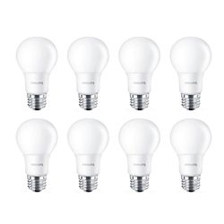 Philips Led 40w A19 Soft White (2700k) Non-Dimmable - Case Of 8 Bulbs