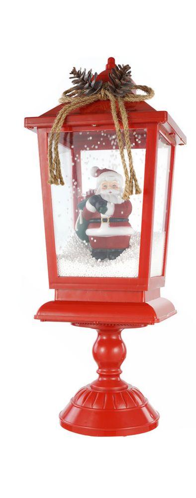 Table Top Snow Blowing Lantern (Asst 2 Styles - Santa & Christmas Tree)