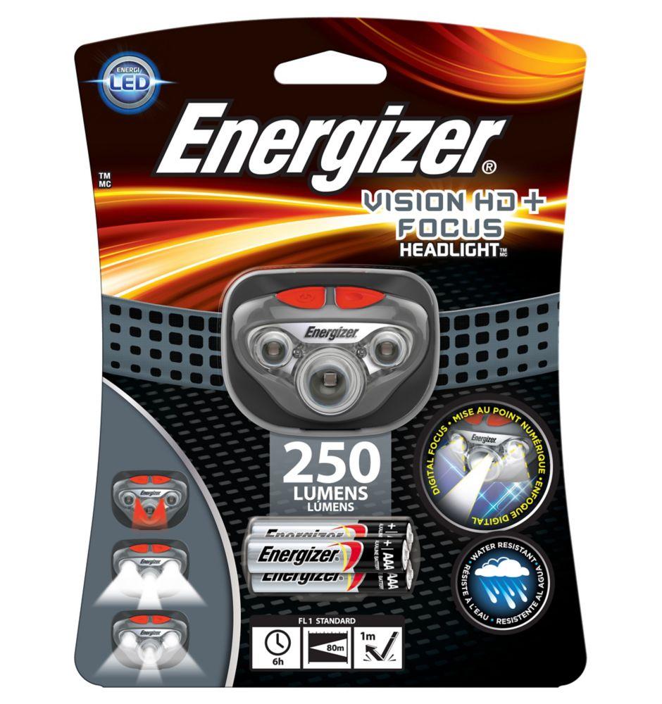 Lamp frontale à DÉL Energizer Vision HD + Focus