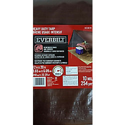 Everbilt Heavy Duty 12 ft. x 20 ft. Silver/Brown