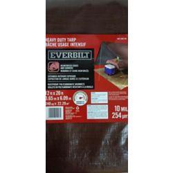 Everbilt Heavy Duty 12 ft. x 20 ft. Silver/Brown