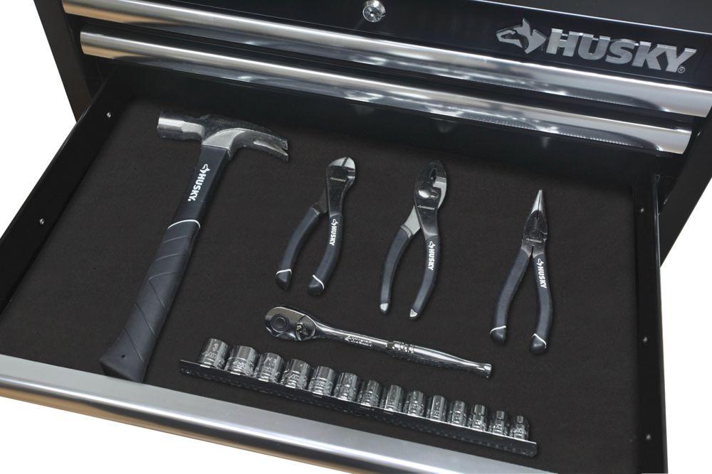 HUSKY Premium Solid Drawer Liner in Black