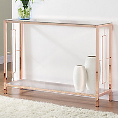 Athena-Console Table-Rose Gold