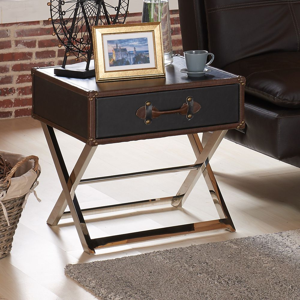 Esquire-1d Accent Table-Grey