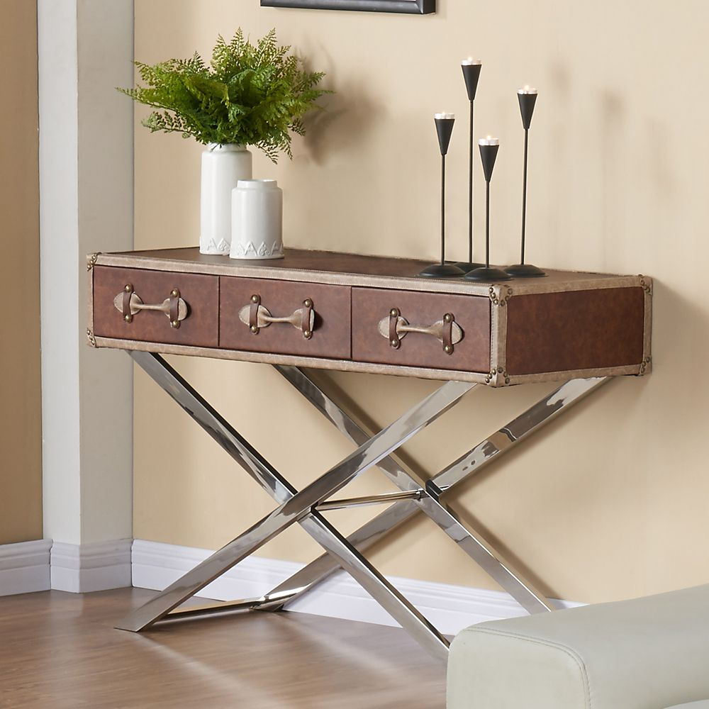 Esquire-Console Table-Brown