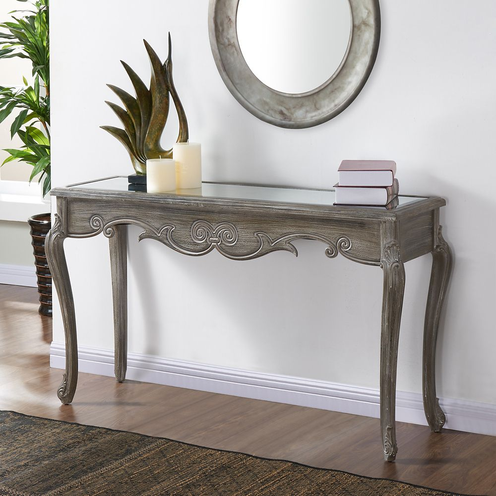 Kailey-Console Table-Weathered