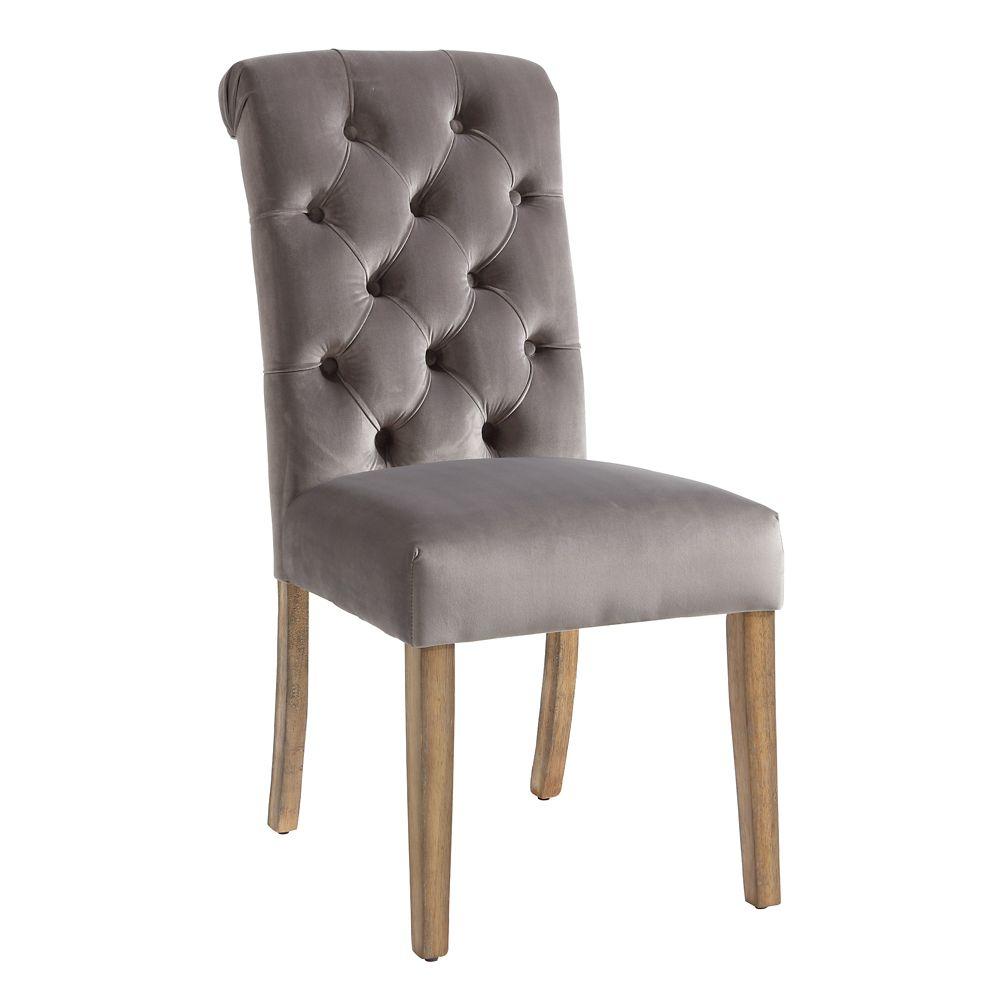 Avania Set Of 2 Side Chair-Grey