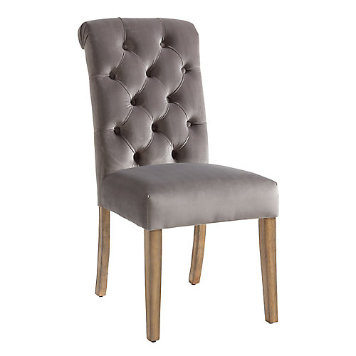 Avania Side Chair-Grey (Set of 2)