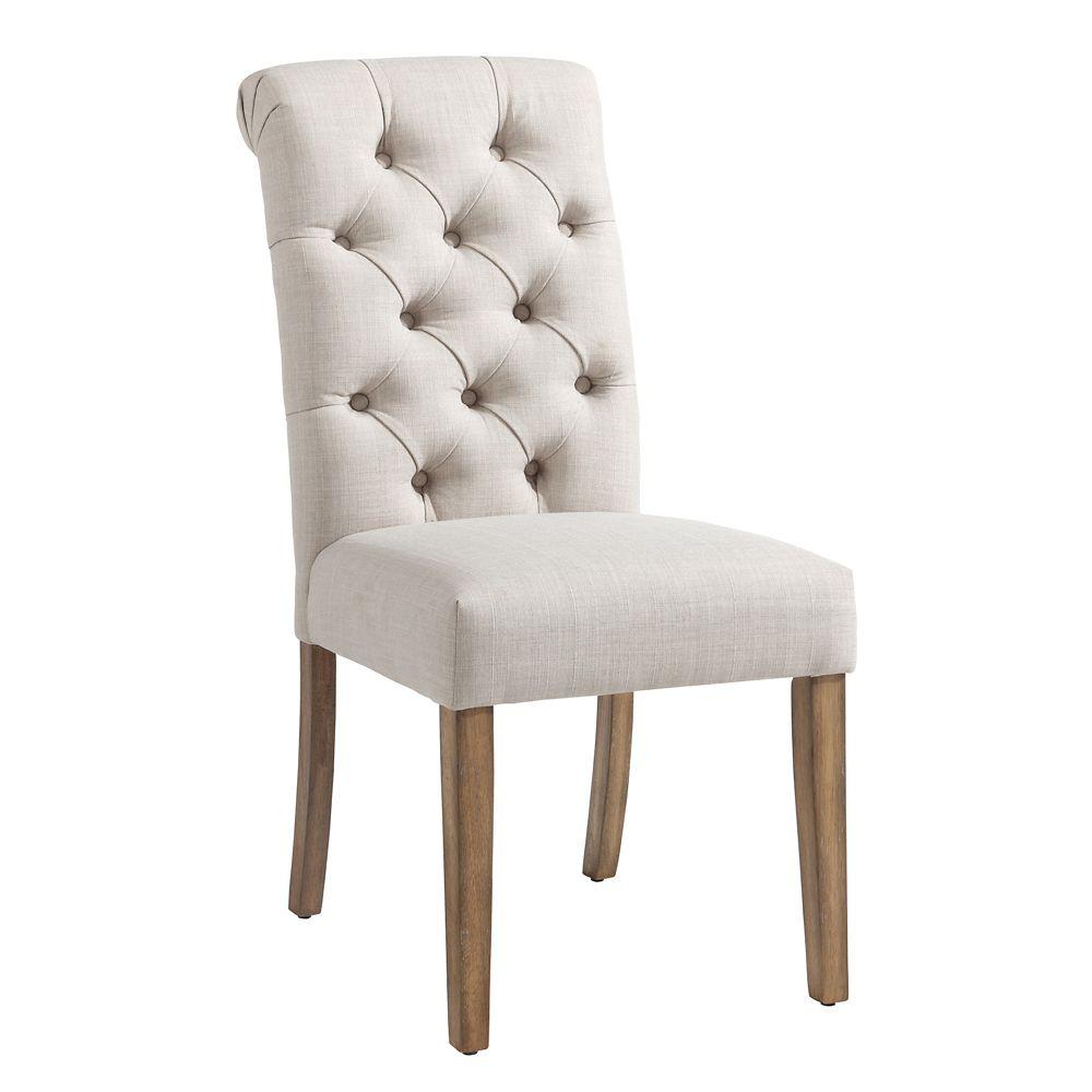 White Parson Armless Dining Chair
