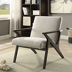 Beso Contemporary Occasional Accent Chair in Beige with Solid Pattern