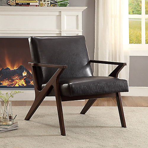 Beso Modern Occasional Accent Chair in Brown