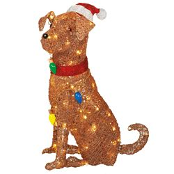 Home Accents Holiday 2 ft. 6 -inch LED Santa Dog