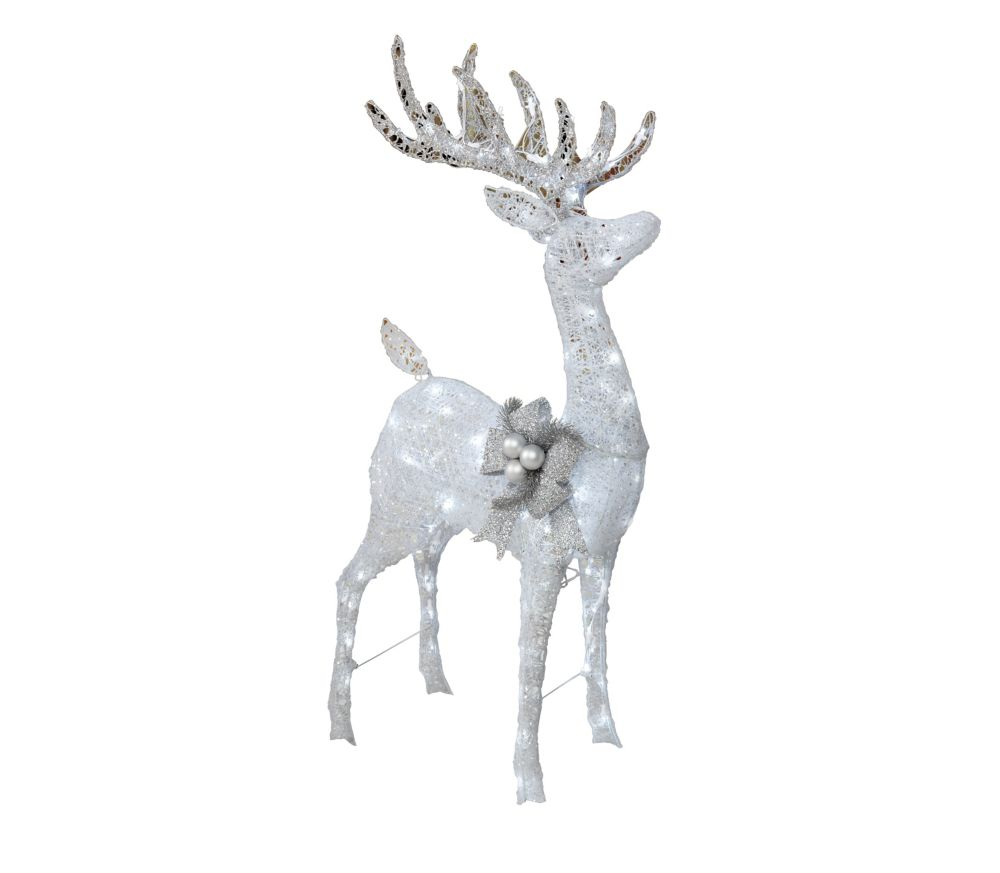 Home Accents Holiday 4 ft. Grapevine Reindeer Figurine with Twinkling LED Lights