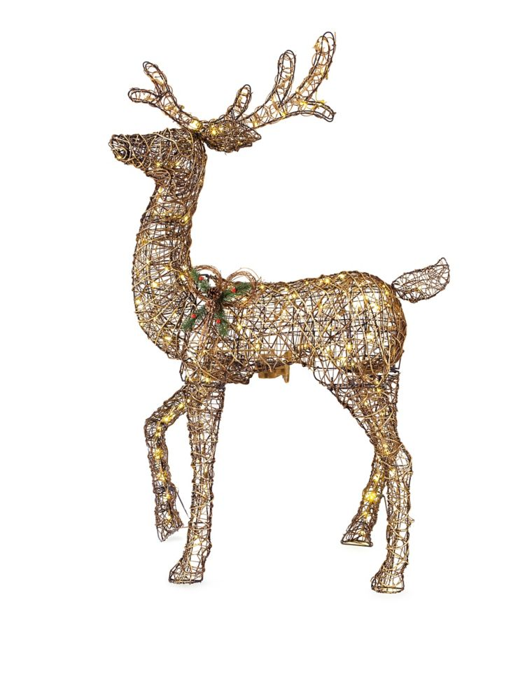 5 Feet LED Animated Grapevine Deer