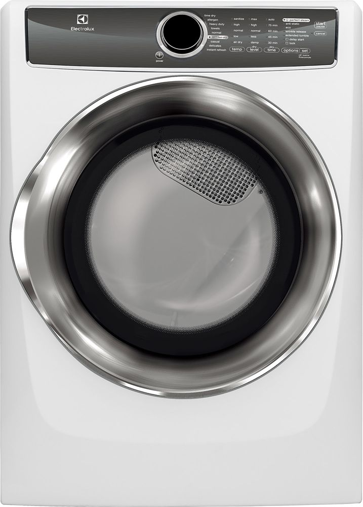 8.0 Cubic Feet  Electric Front Load Dryer - White