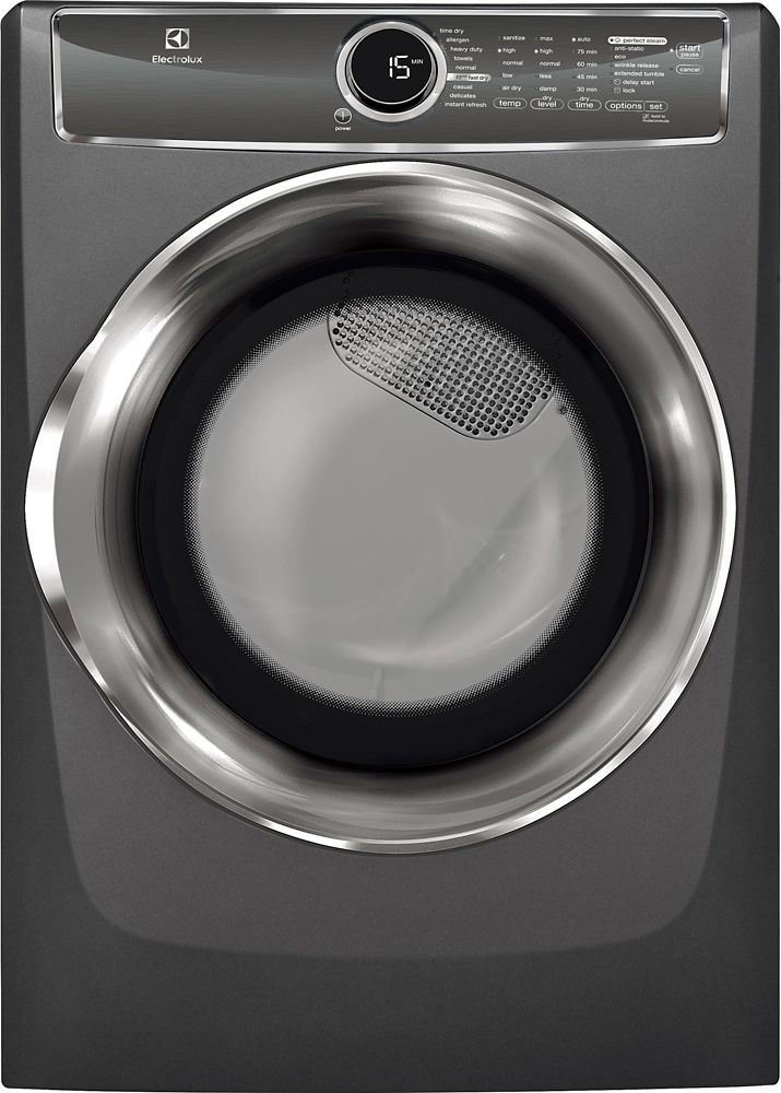 8.0 Cubic Feet  Gas Front Load Dryer - Titanium