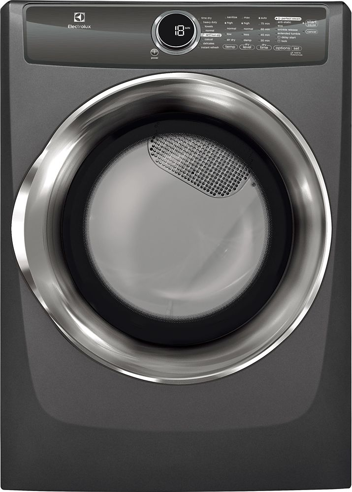 8.0 Cubic Feet  Electric Front Load Dryer - Titanium