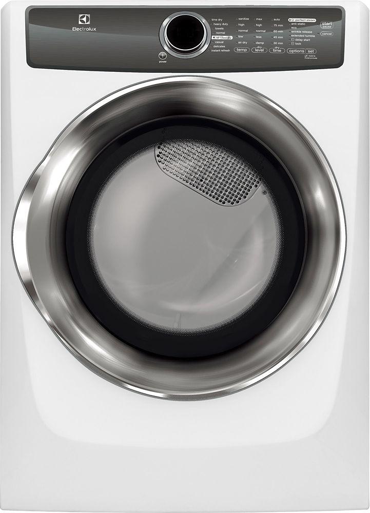 Sécheuse électrique à chargement frontal Electrolux de 8,0pi3-blanc