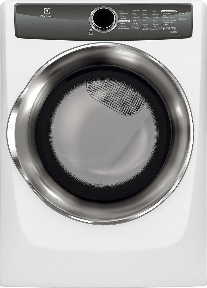 Sécheuse à gaz à chargement frontal Electrolux de 8,0pi3-blanc
