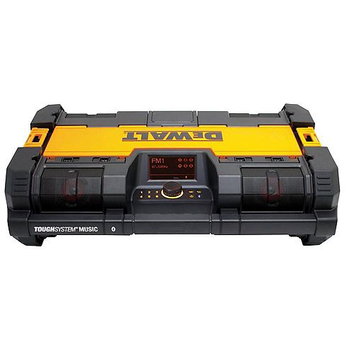 DEWALT ToughSystem 14-1/2-inch Portable and Stackable Radio/Digital Music Player with Bluetooth and Battery Charger