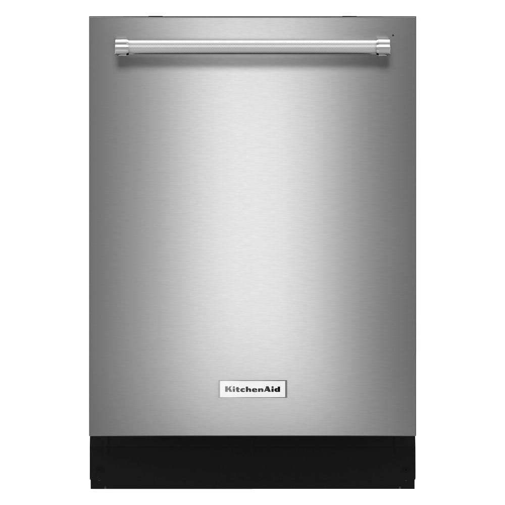 KitchenAid 24-inch, 44 dBA Top Control Dishwasher in Stainless Steel - ENERGY STAR®