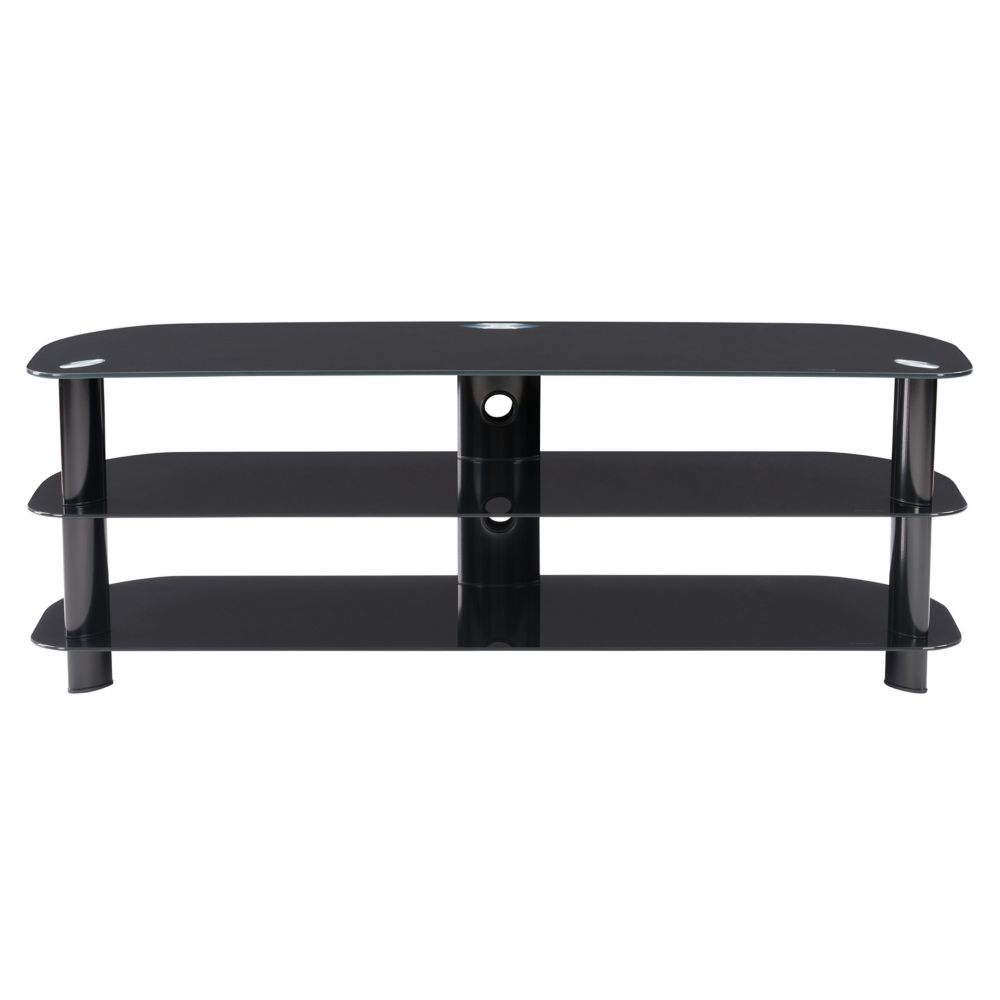 Laguna Satin Black TV Stand, For Tvs Up To 60 Inch