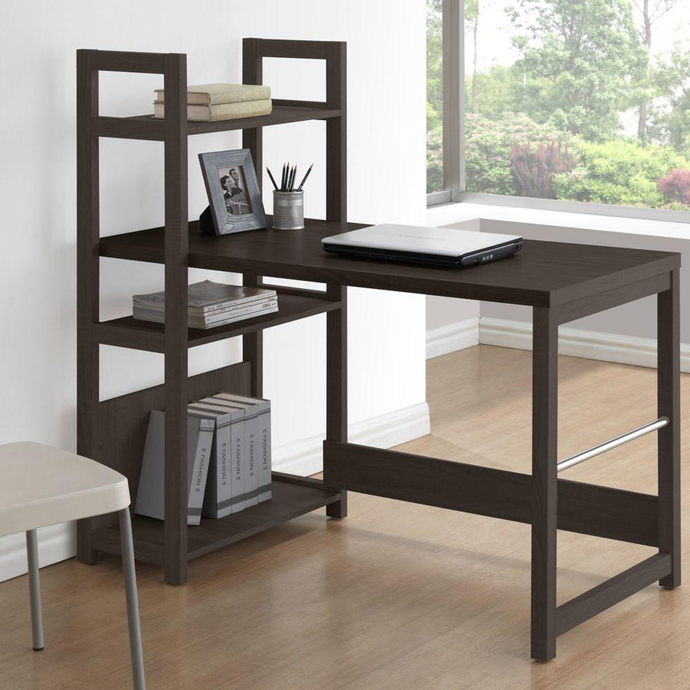 Folio Black Espresso Bookshelf Styled Desk