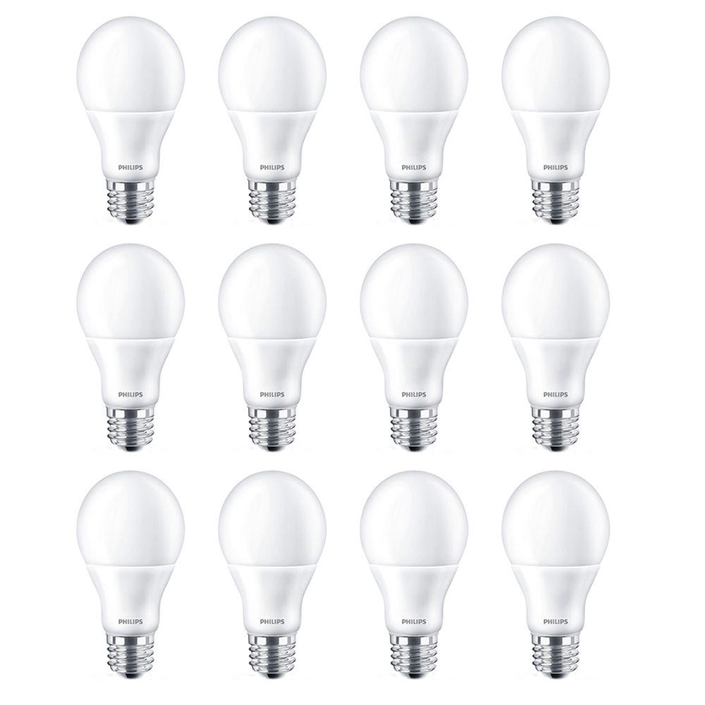 Led 60w A19 Bright White (3000k) - Case Of 12 Bulbs