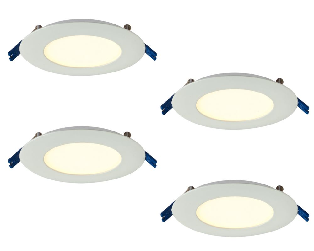 4 Inch Pro Series Recessed Round LED Panel White 4-Pack